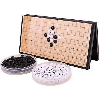 Tragbares magnetisches Go-Spiel-Set, faltbares Schachbrett, einzelne konvexe magnetische