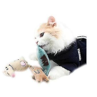Kot Toy Cat Plush Kot Toy Puppet z kocimiętka Cat Pet Toy (BEIGE)