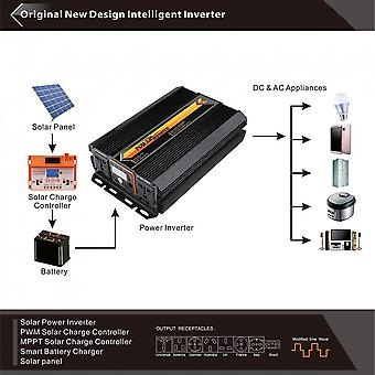 T8102 2000w/3000w Power Inverter Converter Lcd Display For Car Home Use