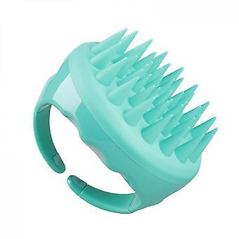 Shampoo Massager Bürste Kopfhaut Peeling zur Entfernung von Schuppen (Grün)