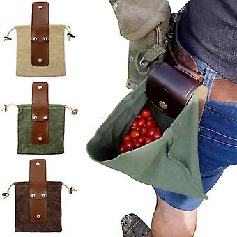Udendørs Fouragering Bag Frugt Picking Bag Waist Hængende Jungle Opbevaringspose