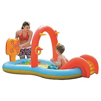Aufblasbares Schwimmbad Planschbecken Badewanne Im Freien Sommerpool Für Kinder Rutschen