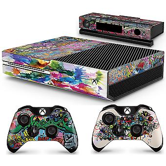GNG Xbox GRAFFITI Console Skin Decal Sticker + 2 Controller Skins kompatibla med Xbox One & Kinect
