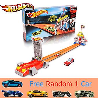 Auto track set rechte track acceleratie track auto speelgoed