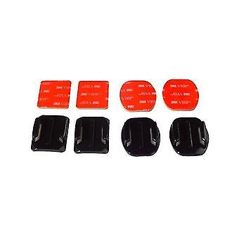 Montures adhésives pour gopro courbes plats montures 3m pads collants pour Go Pro Xiaomi