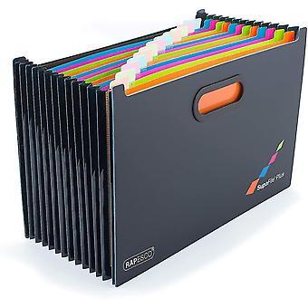 Työpöydän järjestäjät SupaFile Plus A4 Desktop Exping File Organizer Ylisuuri sovitettu kansioihin 13 osa