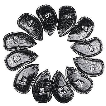 Pu Leather Golf Iron Head Covers Club