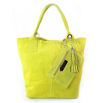 Vera Pelle Zamsz XL A4 Shopper Bag W567GL ellegant  women handbags