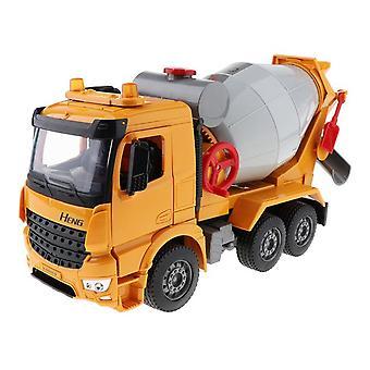 Koolmei Mixer Truck Rotary Spinner Friction Toy1/18 Ratio Alloy Plastic Mixer Truck