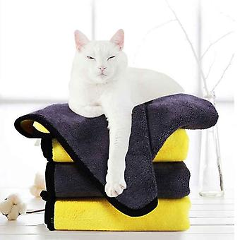 Pet Dog Cat Water-absorbent Quick-drying Towel Bath Towel