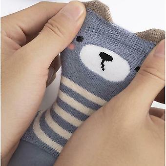 Baby Kleinkind Kinder Anti-Rutsch Kriechen Socken Schuhe Verdicken Slipper