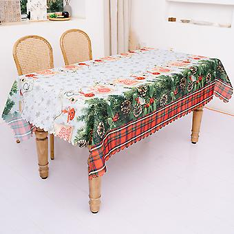 Christmas Tablecloth Warm Beautiful Easy Care Table Cover For Dining Room