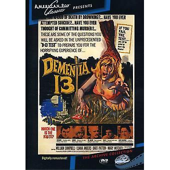 Demencia 13 importar de Estados Unidos (1963) [DVD]