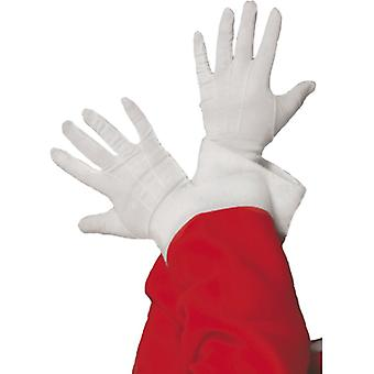 Guanti guanti bianco Santa Natale Santa