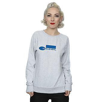Sininen Huomaa tietueiden naisten yksinkertainen Logo paita