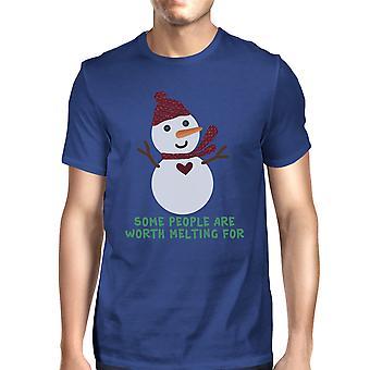 Пришло время получить деревья освещенный мужской синий веселые рождественские футболку