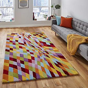Prism Pr101 Geometric Wool Rugs In Multicolour