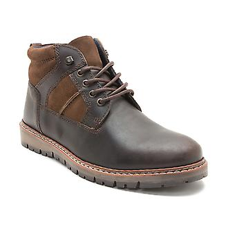Red Tape Huxley Brown Leather Mens Casual Ankle Boots