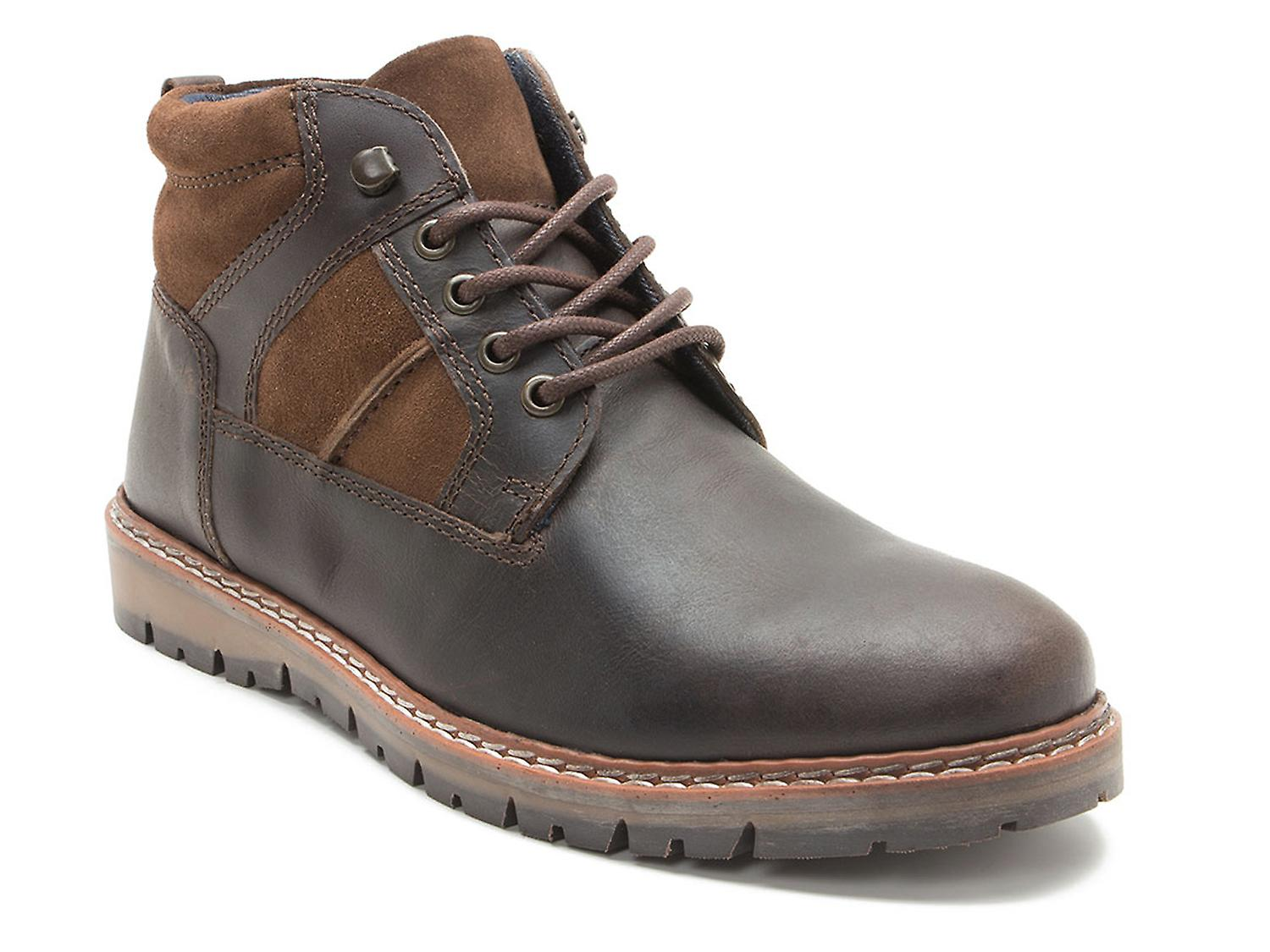 Red Tape Huxley Brown Leather Mens