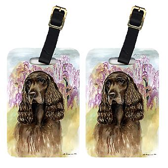 Carolines Treasures  7033BT Pair of 2 Field Spaniel Luggage Tags