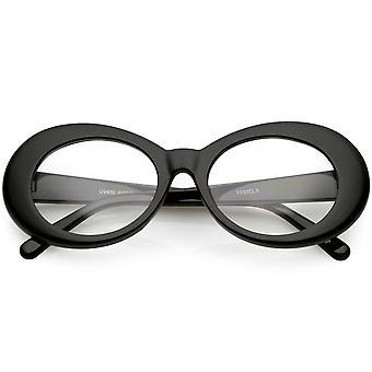 Stor innflytelse briller tykke ovale briller klar linsen 53mm