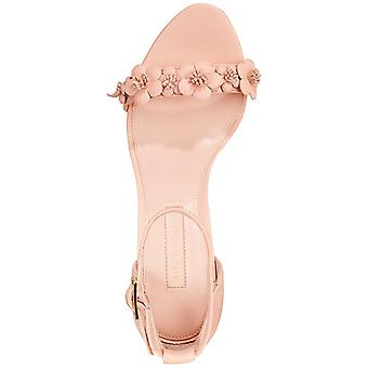 Avec Les Filles Womens Michele Leather Open Toe Special Occasion Ankle Strap Sandals
