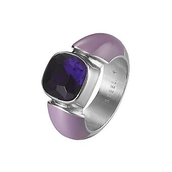 Joop kvinders ring rustfrit stål af lilla cubic zirconia JPRG10594E