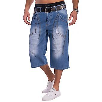 Menns jeans shorts for menn bukse kjølige blå dongeri Bermuda 3/4 lyseblå
