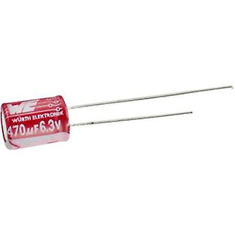 Würth Elektronik WCAP-PTG5 870025175012 Electrolytic capacitor Radial lead 5 mm 1500 µF 6.3 V 20 % (Ø x H) 10 mm x 12.5 mm 1 pc(s)