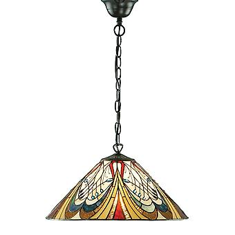 Interiors 1900 Hector Single Light Tiffany Style Ceiling