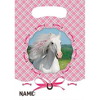 White horse party bags gift bags 8 piece children birthday theme party party birthday