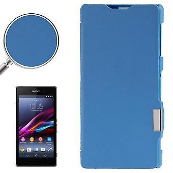 Mobile affaire sac pour Sony Xperia Z1 / L39h bleu brossé