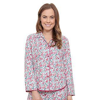 Holly branco impressão pijama Berry Pyjama Cyberjammies 3849 feminino