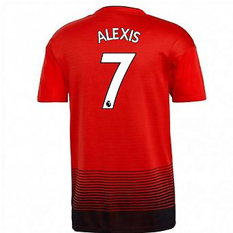 2018-2019 Man Utd Adidas Home Football Shirt (Alexis 7)