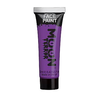 Moon Terror - Halloween Face Paint for the Face & Body - 12ml - Create spooky face paint designs! Perfect for vampire, ghost, skeleton, witch, pumpkin, monster etc - Poison Purple
