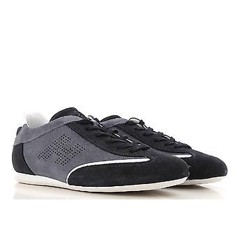Hogan lav mænds sneakers i grå og blå ruskind