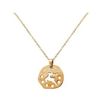 GEMSHINE necklace reindeer Rudolf Raindeer silver or high quality gold plated