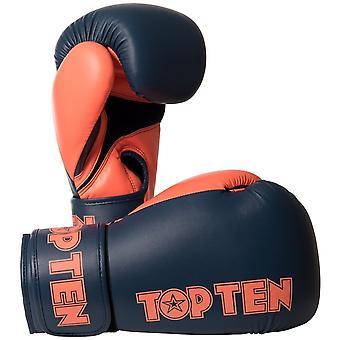 Top Ten XLP boxe gants Gris/Orange