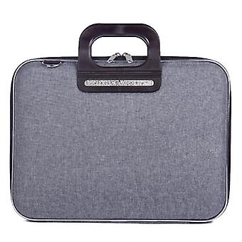 Bombata PRATO Briefcase by Fabio Guidoni Messenger Bag - 13 / Bicolor Gray/Black