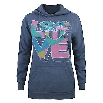 Junk Food 'Love Junk Food' Women's Hoodie Blue