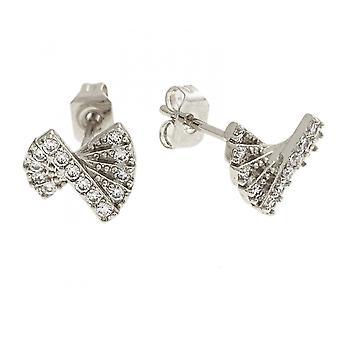Bertha Sophia Collection Women's 18k WG Plated Fan Fashion Earrings