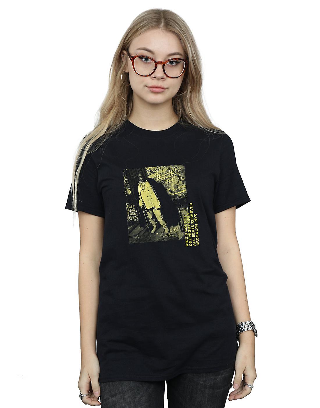 Notorious BIG Women's Cane Neon Boyfriend Fit T-Shirt