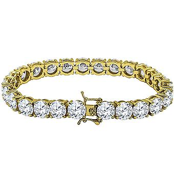 Iced out bling high quality bracelet - GOLD 1 ROW 8mm