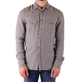 Dondup Ezbc051113 Men's Grey Viscose Shirt