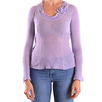 Love Moschino Ezbc061023 Women-apos;s Purple Viscose Sweater