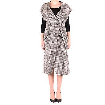 Alysi Ezbc134010 Mujer's Abrigo de lana multicolor