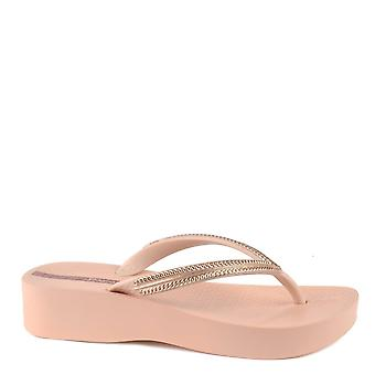 Ipanema Blush Mesh Wedge Flip Flop