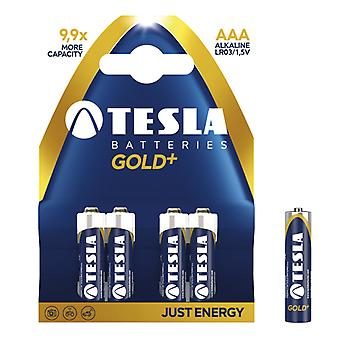 Τέσλα Gold AAA μπαταρίες 4-Pack, LR03 αλκαλική μπαταρία