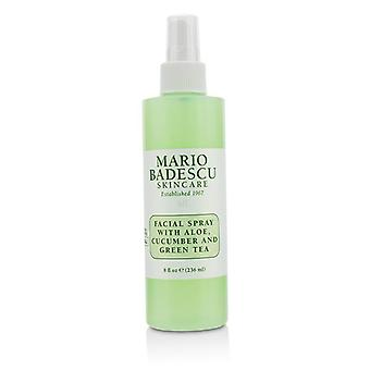 Facial Spray With Aloe Cucumber And Green Tea - For All Skin Types - 236ml/8oz