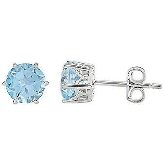 Mark Milton Topaz November Earrings - Blue/Silver